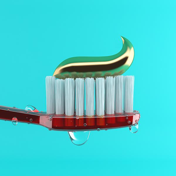 Golden Toothpaste CGI